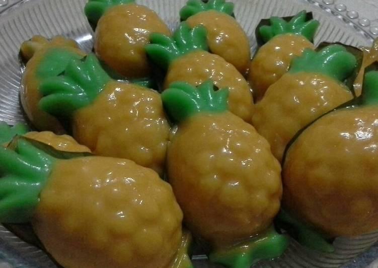 Resep: Kue ku / kue tok isi kacang hijau sedap
