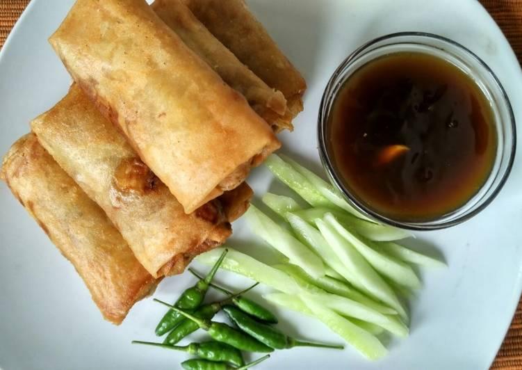 Resep memasak Lumpia Semarang (lengkap saos dan acarnya) enak