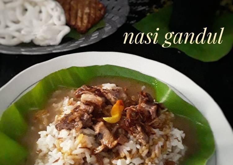 Cara Mudah memasak Nasi Gandul ala resto