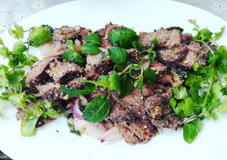 Resep: Nam Tok a.k.a Thai Beef Salad a.k.a Waterfall Beef yang menggoyang lidah