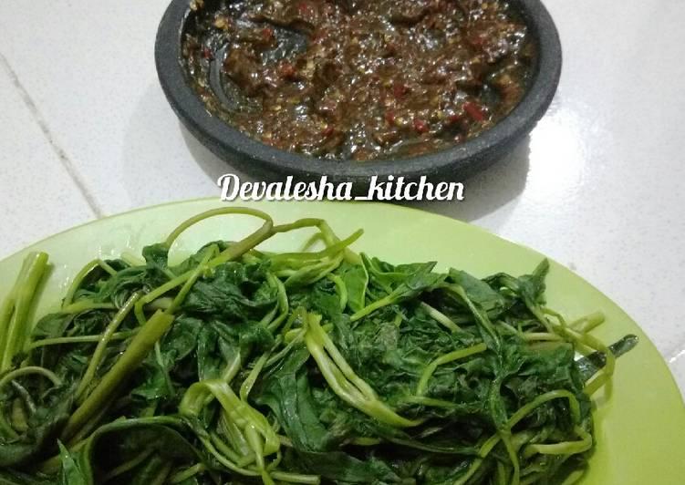 Resep memasak 111. Petis Kangkung ala Semarangan istimewa