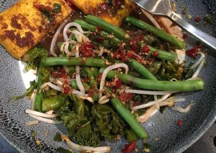 Resep memasak Rujak petis udang simple (pake blender/food processor)