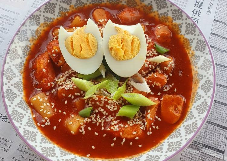 Cara Mudah membuat Spicy Tteokbokki ala resto