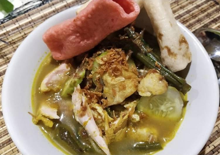 Resep: Rujak Soto Ayam ala resto