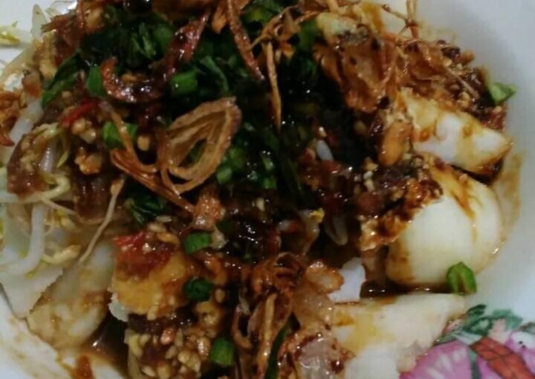 Resep memasak Kupat Tahu Petis yang bikin ketagihan