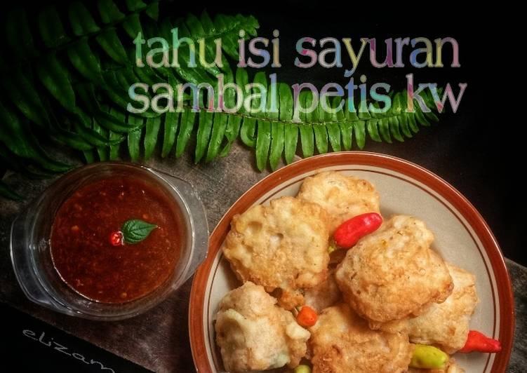 Resep: Tahu isi sayuran dengan sambal petis kw ala resto