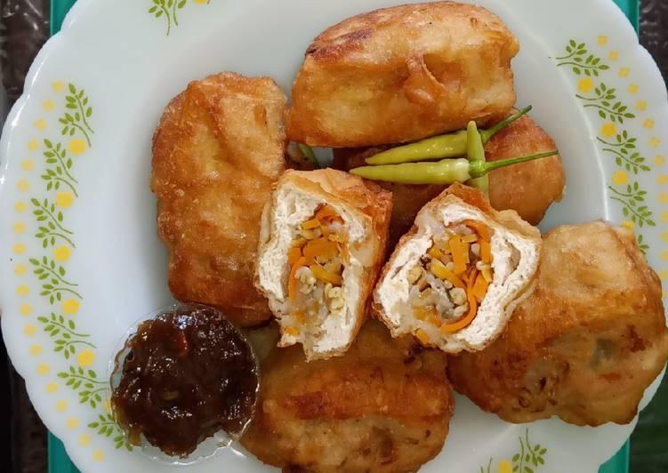 Cara Mudah memasak Tahu isi sayuran dan petis colek yang menggugah selera