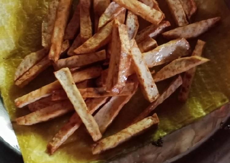 Resep: Talas goreng garing lezat