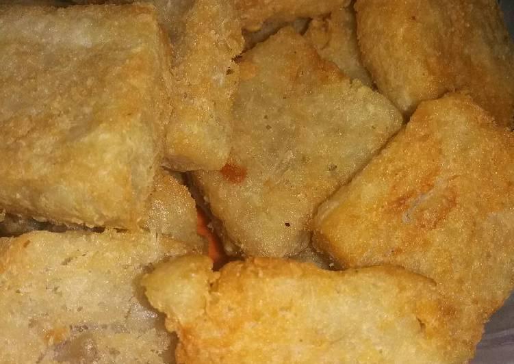 Resep: Getuk enthik/talas goreng nagih😉 lezat