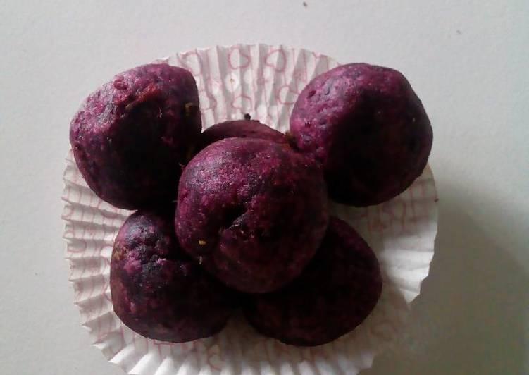 Resep memasak Bola bola ubi ungu (pilus isi) istimewa