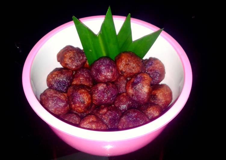 Resep: Pilus ubi ungu enak