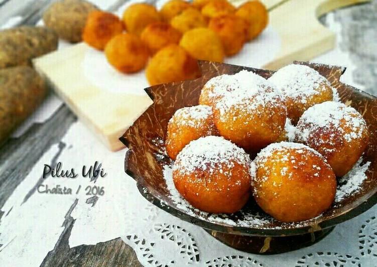 Cara mengolah Pilus Ubi / sate ubi goreng enak manis legit ^^ yang menggugah selera