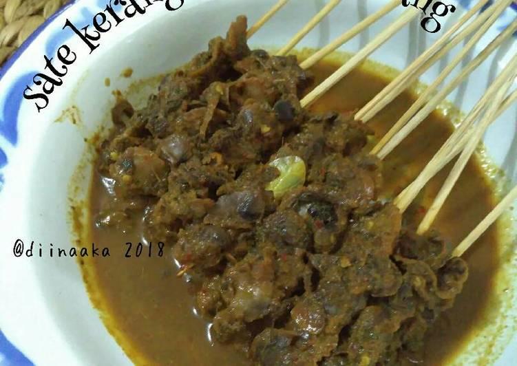 Resep memasak Sate kerang bumbu rendang yang bikin ketagihan