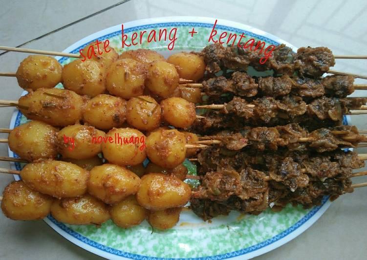 Cara Mudah memasak Rendang sate kerang & kentang enak