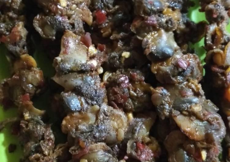 Resep memasak Sate kerang sambal pedas enak