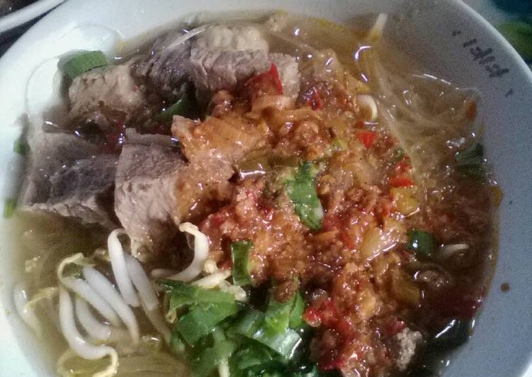 Resep mengolah Soto daging tauco simple