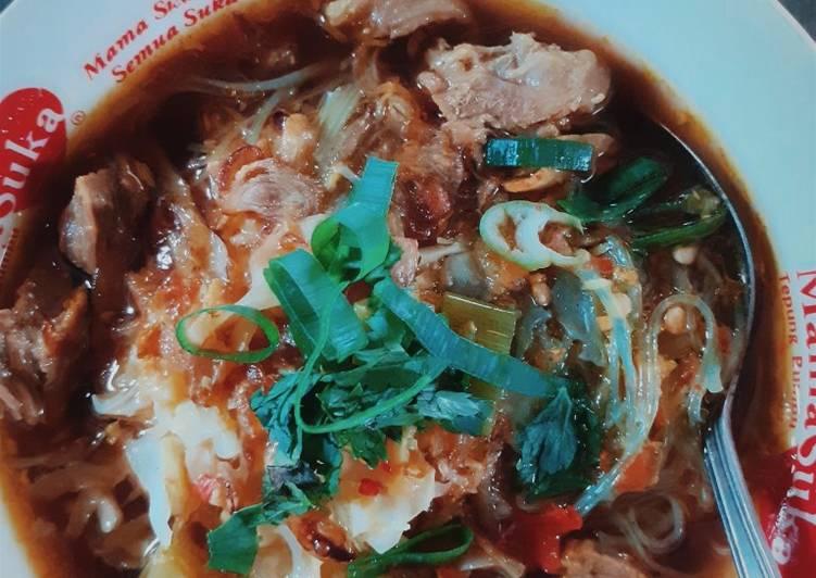Resep mengolah Soto taoto daging sapi sedap