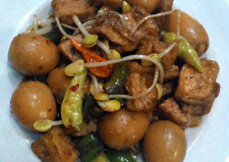 Cara memasak Tahu & Telur puyuh masak lombok ijo ale enak