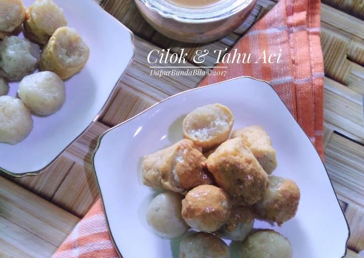 Resep memasak Cilok & Tahu Aci sedap