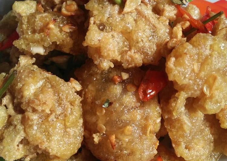 Resep membuat Tahu cireng cabe garam 😁
