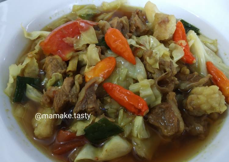 Cara membuat Tongseng daging sapi (no santan) yang menggugah selera