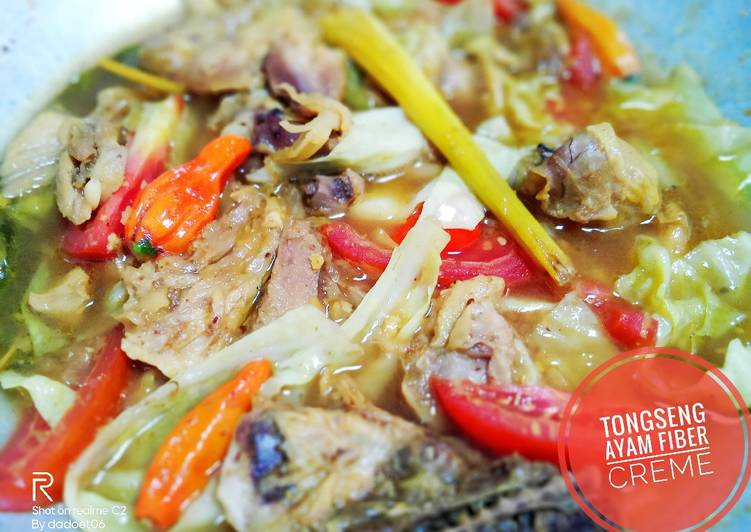 Resep memasak Tongseng ayam fiber creme ala resto