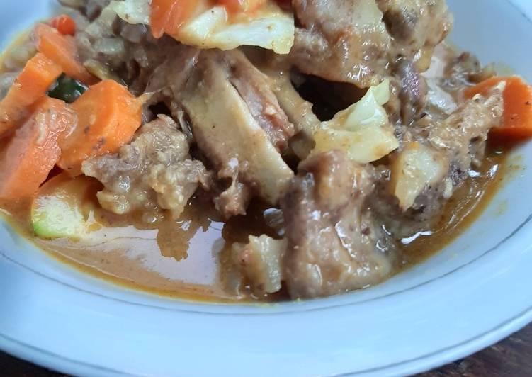Cara Mudah memasak Tongseng iga kambing yang bikin ketagihan