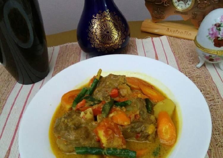 Resep: Tongseng Kambing Plus Sayuran Pedas ala resto