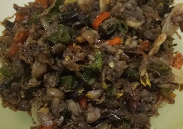 Cara memasak Oseng ikan asin klotok/peda ala resto