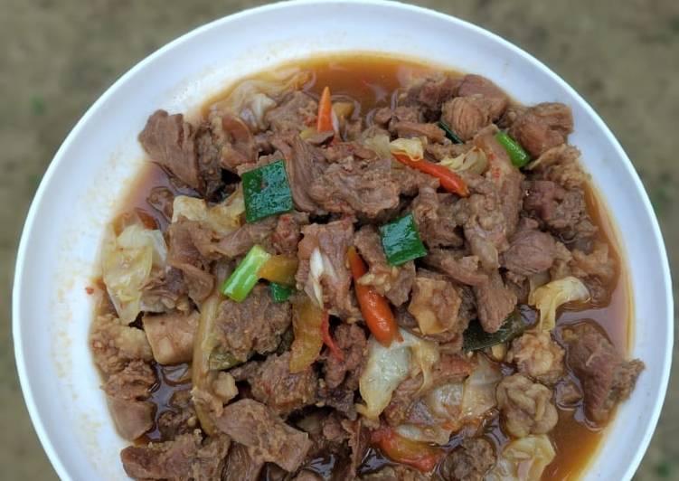 Cara membuat Tongseng daging (sapi) tanpa santan yang bikin ketagihan