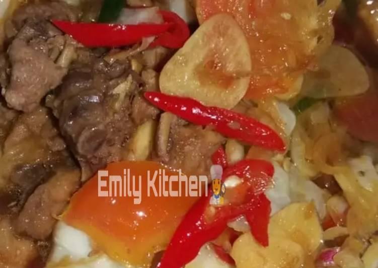 Resep: 1. Tongseng ayam dengan bahan sederhana yang menggugah selera