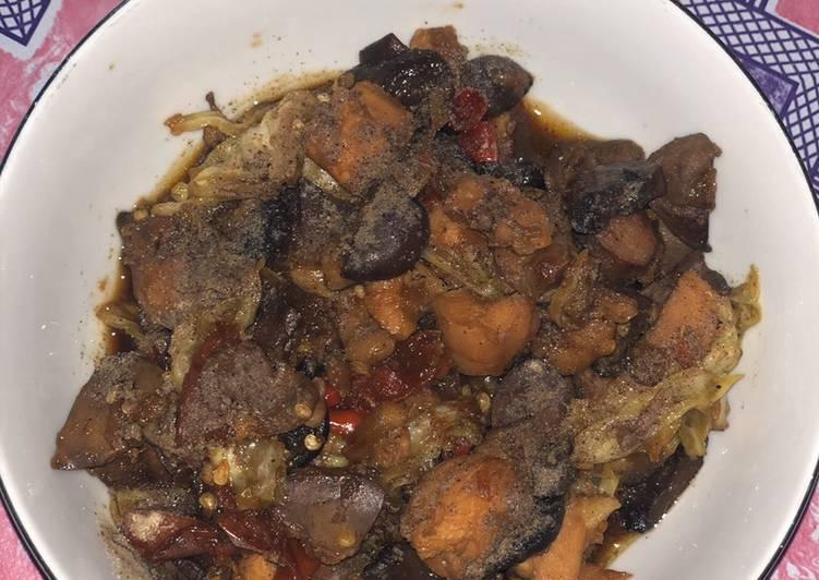 Cara Mudah memasak Tongseng jamur ayam ati ala sari eco yang menggugah selera