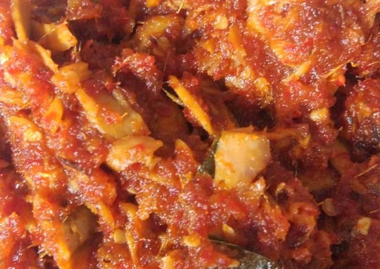 Resep membuat Sambel Rica ikan tongkol ala resto