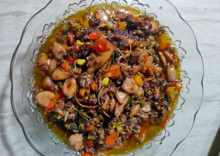 Resep memasak Sambal baby cumi pedas mantap lezat