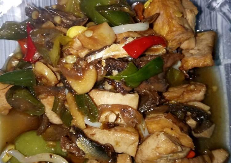 Cara Mudah memasak Klotok ikan asin campur tahu mantaaap istimewa