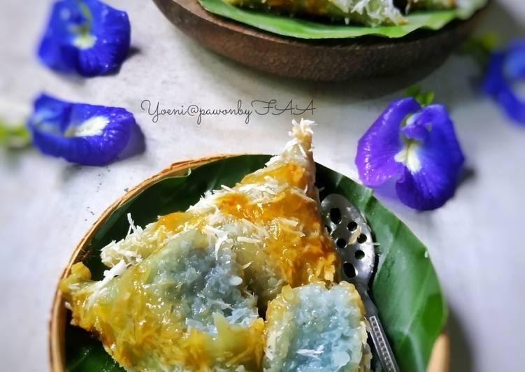 Resep: Lupis Blue Pea (bunga telang)