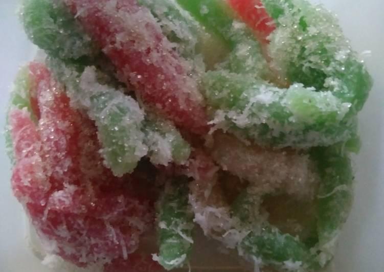 Resep: Cenil warna warni lezat
