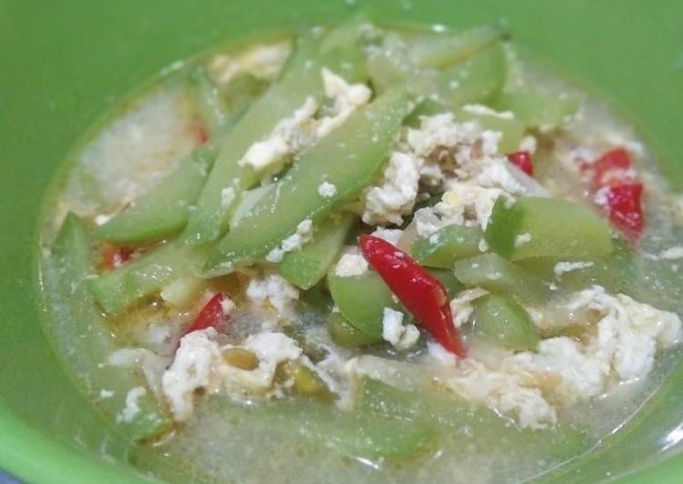 Resep: Tumis Labu Siam Telur yang menggugah selera