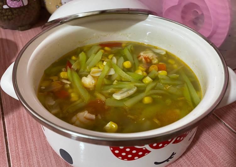 Resep: Tumiss labu siam jagung udangg~ enak