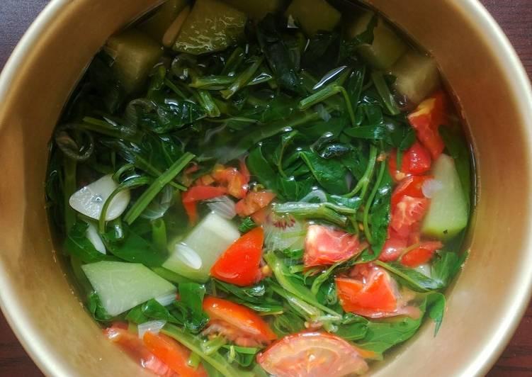 Resep: Sayur Bening Kangkung dan Labu Siam yang bikin ketagihan