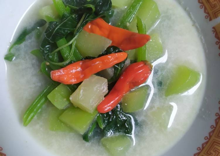 Sayur/Bobor Bayam & Labu siam enak, segar & anti ribet