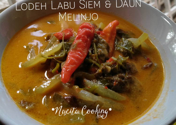 Resep: Lodeh Labu Siem & Daun Melinjo yang menggugah selera