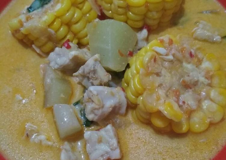 Resep: Sayur lodeh labu siam, tempe dan jagung sedap