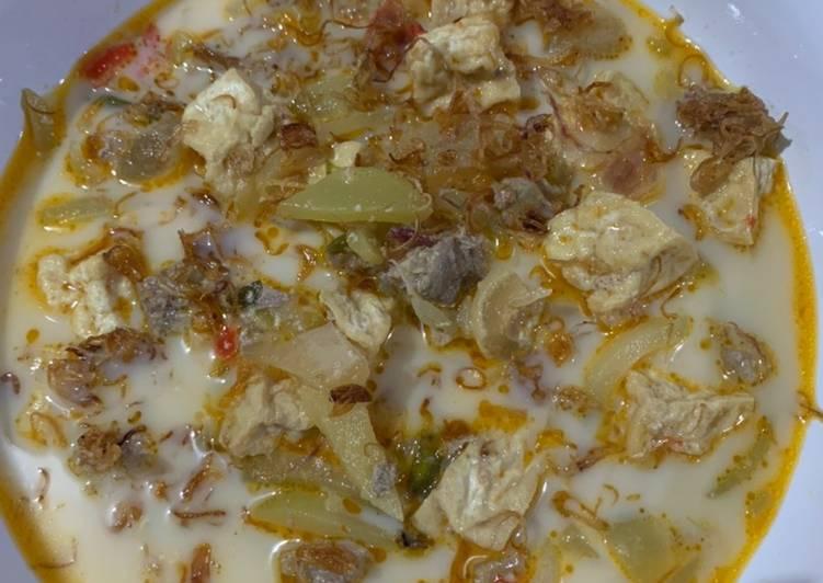 Resep: Lodeh manisa, tetelan daging, tahu & susu perah ala resto