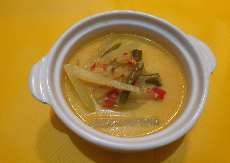 Cara Mudah memasak Lodeh Labu Siam dan Kacang Panjang ala resto