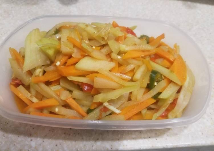 Resep: Sayur labu siam Dan wortel sederhana istimewa