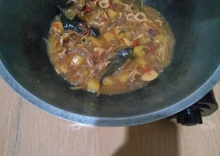 Resep: Cumi basah asam manis pedas enak