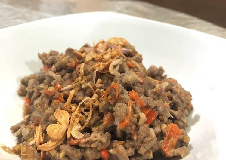 Resep memasak Tumis Daging Asam Pedas (Kondo) #GoldenApron3-01 ala resto