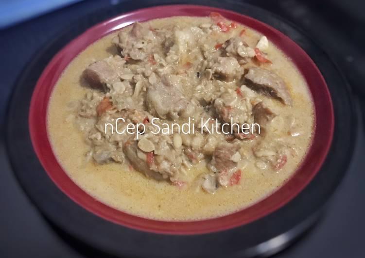 Resep memasak Sambal Tumpang Koyor ala resto