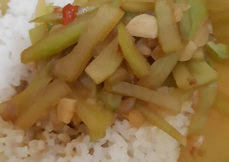 Resep: Sayur labu siam (jipang) sedap